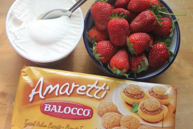 Strawberries, Mascarpone, Amaretti